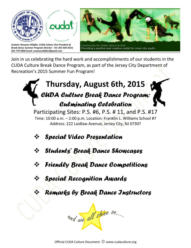 Summer Fun  & CUDA Break Dance Program 2015 - Culminating Event(1)-1